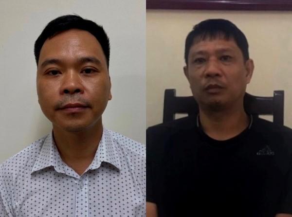Các bị can Hùng (bên trái) và Việt