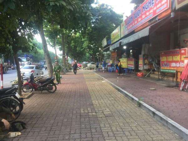 Nhiều tuyến vỉa hè trên địa bàn phường Hoàng Liệt đã phong quang (ảnh chụp ngày 22-7)