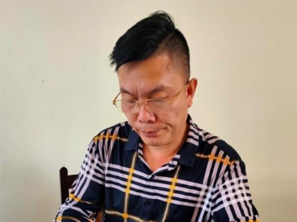 Nguyễn Xuân Biển tại cơ quan Công an