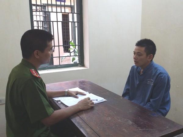 Cơ quan CSĐT CAQ Nam Từ Liêm lấy lời khai Trần Văn Hoan