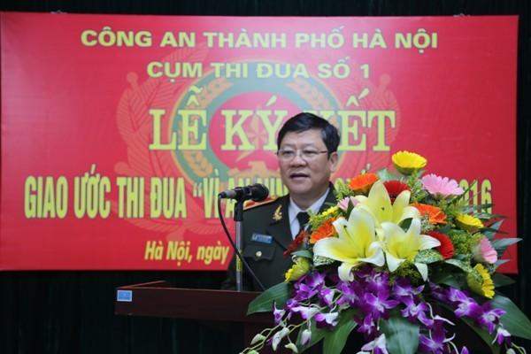 Thiếu tướng Bạch Thành Định, Phó Giám đốc CATP phát biểu chỉ đạo hội nghị