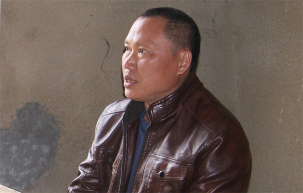 Triệu Văn Thuận tại cơ quan công an