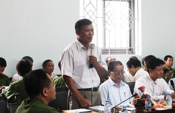 Đồng chí Mai Công Bắc, Chủ nhiệm CLB sỹ quan công an hưu trí phát biểu cảm ơn sự quan tâm của Đảng ủy, BCH CAQ Bắc Từ Liêm đối với sỹ quan công an hưu trí