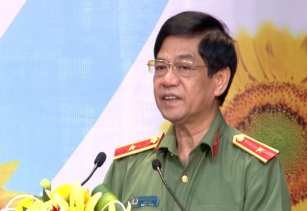 Thiếu tướng Đoàn Duy Khương, Giám đốc CATP phát biểu tại buổi lễ