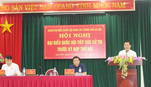 ĐBQH Đào Thanh Hải thông báo kết quả trả lời ý kiến cử tri của UBND TP Hà Nội