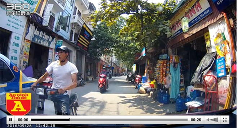 Hình ảnh Nguyễn Thành Nam trong clip