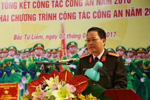 Đại tá Đoàn Ngọc Hùng phát biểu chỉ đạo tại hội nghị