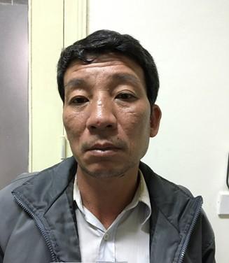 Nguyễn Minh Sáng tại cơ quan công an