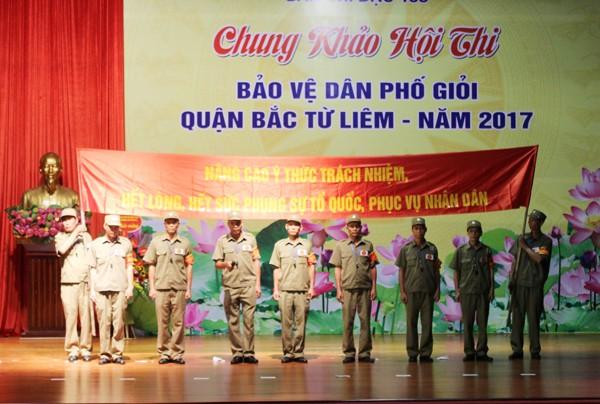Thông điệp của Ban bảo vệ dân phố phường Minh Khai mang tới vòng chung khảo hội thi