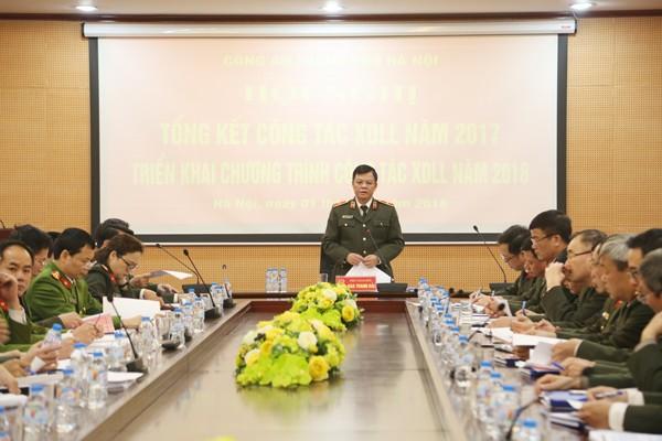 Thiếu tướng Đào Thanh Hải - Phó Bí thư Đảng ủy, Phó Giám đốc CATP chủ trì