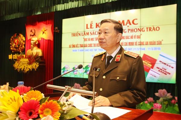 Thượng tướng Tô Lâm, Ủy viên Bộ Chính trị, Bộ trưởng Bộ Công an phát động phong trào