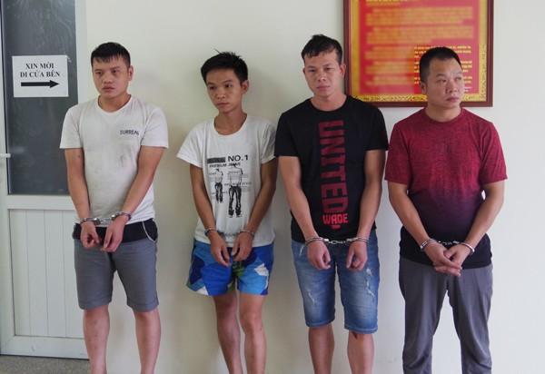 Các đối tượng người Trung Quốc bị lực lượng CSHS Bộ Công an bắt giữ