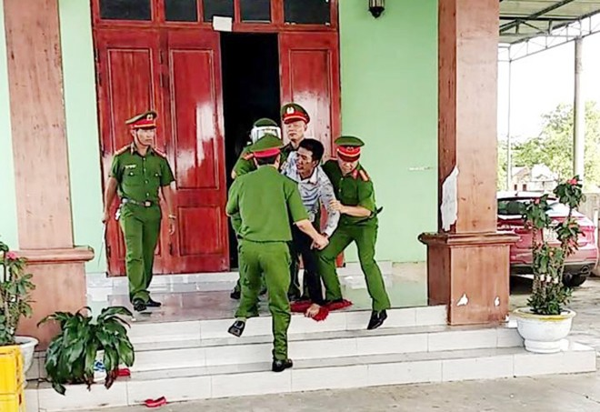 Nguyễn Văn Quân tại thời điểm bị lực lượng CAH Lệ Thủy, tỉnh Quảng Bình khống chế