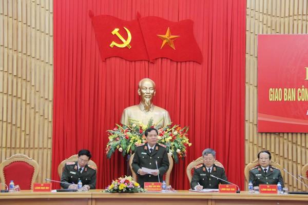 Thiếu tướng Đào Gia Bảo, Cục trưởng Cục Công tác Đảng và công tác Chính trị Bộ Công an chủ trì Hội nghị