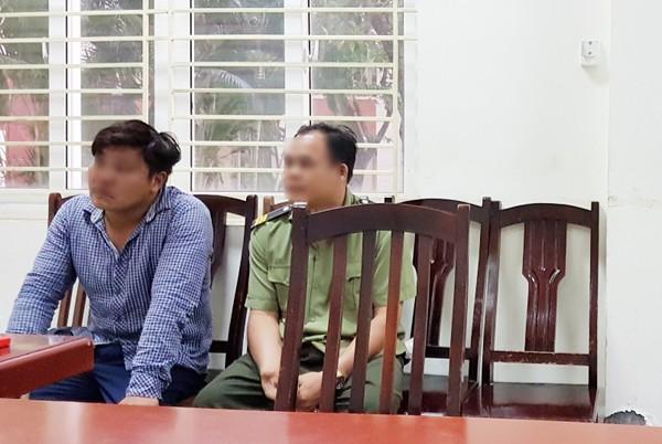 Ông Trịnh Ngọc Tr tại cơ quan công an