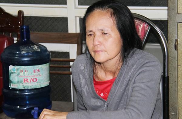 Đối tượng Phạm Thị Yến tại cơ quan công an