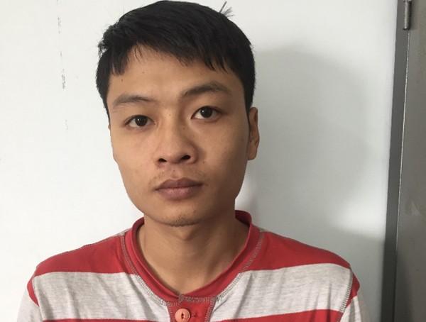 Nguyễn Trung Kiên tại cơ quan công an