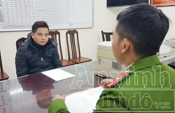 Cơ quan CSĐT -CATP Hà Nội lấy lời khai đối tượng Đỗ Đăng Trung