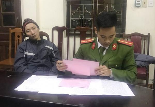 Cơ quan CSĐT - CATP Hạ Long, tỉnh Quảng Ninh lấy lời khai đối tượng Trần Thế Khương