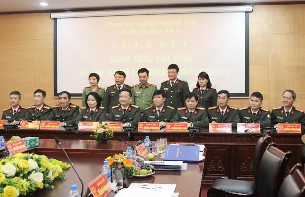 Các đơn vị trong Cụm thi đua số 1 ký giao ước thi đua