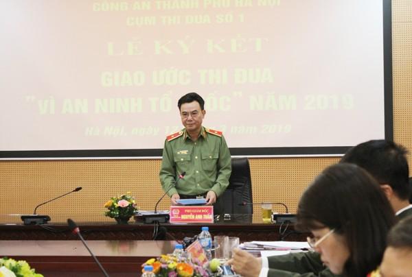 Thiếu tướng Nguyễn Anh Tuấn, Phó Giám đốc CATP phát biểu chỉ đạo hội nghị