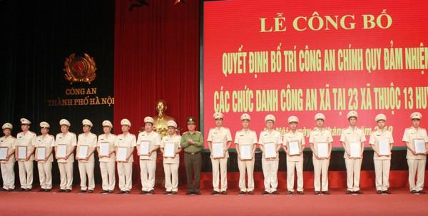Thiếu tướng Đào Thanh Hải, Phó Bí thư Đảng ủy, Phó Giám đốc CATP trao Quyết định bổ nhiệm chức danh Phó CAX