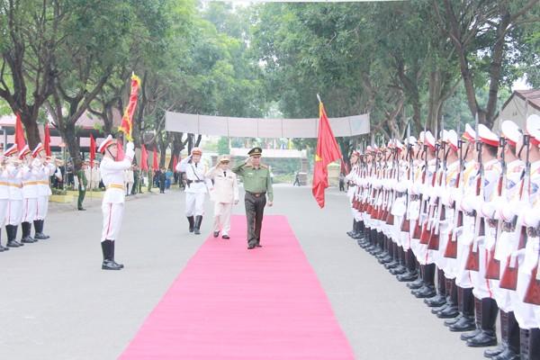 Đại tướng Tô Lâm duyệt Đội danh dự lực lượng Cảnh sát cơ động