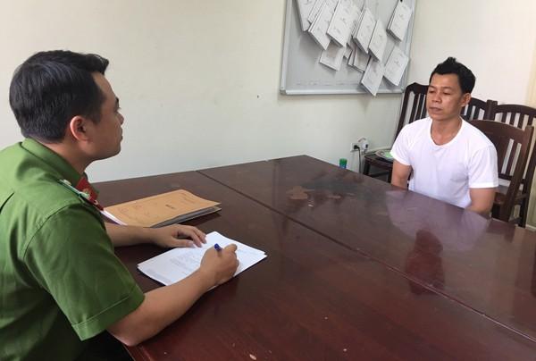 Cơ quan CSĐT - CAQ Nam Từ Liêm lấy lời khai đối tượng Lê Văn Hoàng