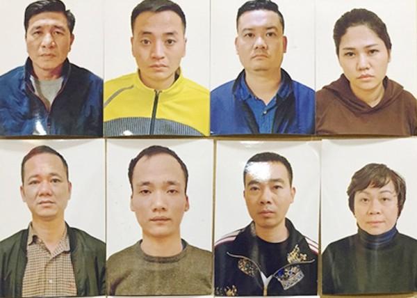 """Một số đối tượng trong ổ nhóm """"tín dụng đen"""" núp bóng doanh nghiệp do Triệu Đình Hoan cầm đầu"""