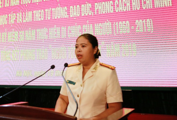 Trung tá Cao Thị Hồng Minh, Phó trưởng Phòng An ninh đối nội