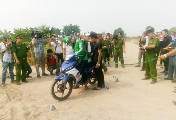 Giáp và Trường thực nghiệm lại hành vi sát hại anh Nguyễn Cao S
