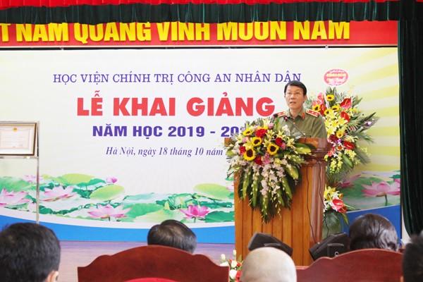 Trung tướng Lương Tam Quang, Thứ trưởng Bộ Công an phát biểu tại lễ khai giảng Học viện Chính trị CAND