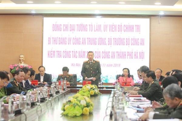 Đại tướng Tô Lâm nêu mục đích, yêu cầu, nội dung buổi kiểm tra