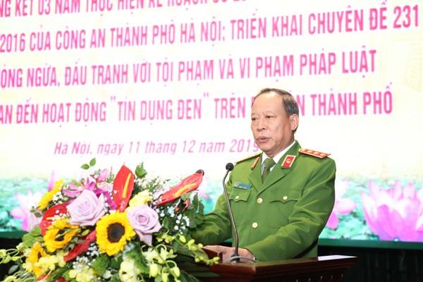 Thượng tướng Lê Quý Vương, Ủy viên Trung ương Đảng, Thứ trưởng Bộ Công an chỉ đạo tại hội nghị