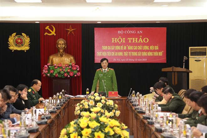 Thiếu tướng Nguyễn Duy Ngọc, Thứ trưởng Bộ Công an chủ trì hội thảo