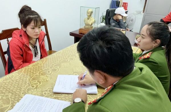 Cơ quan công an lấy lời khai đối tượng Nguyễn Thị Kiều Oanh