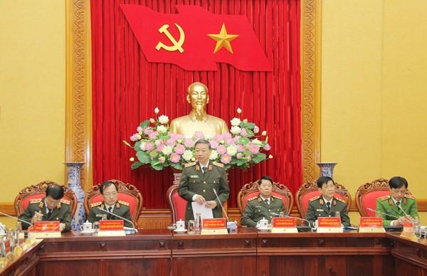 Đại tướng Tô Lâm, Ủy viên Bộ Chính trị, Bộ trưởng Bộ Công an chủ trì hội nghị