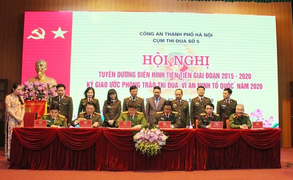 Các đơn vị trong Cụm ký giao ước thi đua