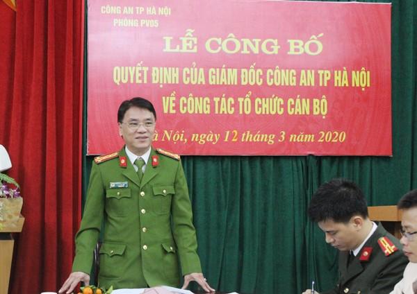 Đại tá Trần Ngọc Dương phát biểu tại lễ công bố quyết định