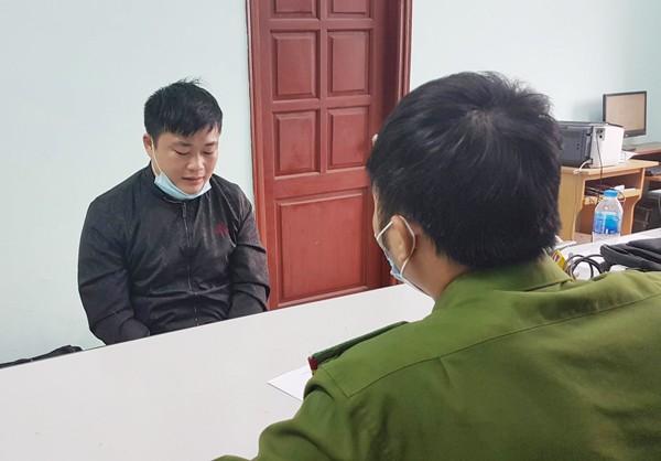 Cơ quan CSĐT - CAQ Bắc Từ Liêm ghi lời khai đối tượng Trương Văn Luyện