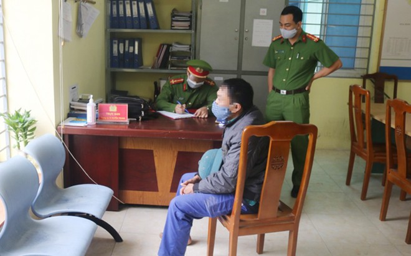 Người đàn ông ra đường không đeo khẩu trang đã bị xử phạt hành chính 200.000 đồng