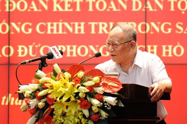 Giáo sư Hoàng Chí Bảo truyền đạt nội dung chuyên đề 2020 về tư tưởng đạo đức Hồ Chí Minh