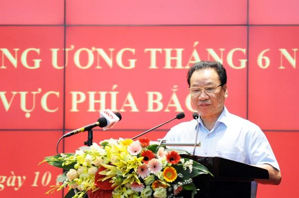 GS.TS Phùng Hữu Phú, Phó Chủ tịch thường trực Hội đồng lý luận Trung ương thông tin về những điểm mới trong dự thảo Văn kiện trình Đại hội XIII của Đảng