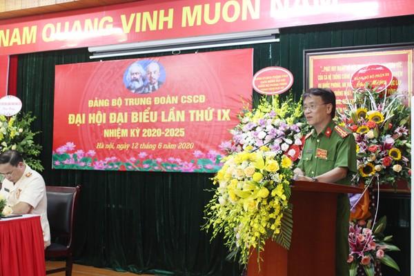 Đại tá Trần Ngọc Dương, Phó Giám đốc CATP Hà Nội phát biểu chỉ đạo Đại hội