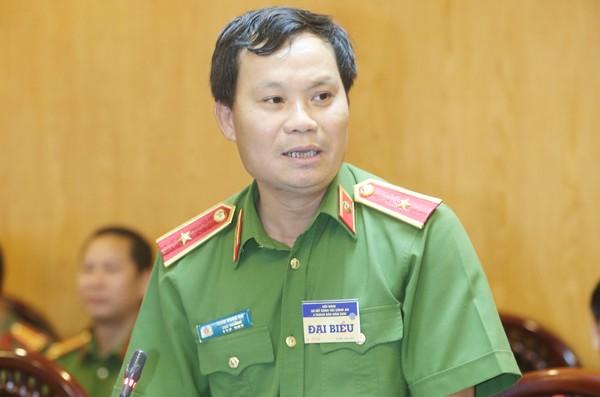 Thiếu tướng Trần Ngọc Hà, Cục trưởng Cục Cảnh sát hình trả lời câu hỏi của phóng viên tại cuộc họp báo