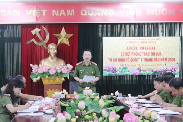 Đại tá Nguyễn Hồng Ky phát biểu chỉ đạo tại hội nghị