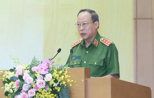 Thượng tướng Lê Quý Vương, Ủy viên Trung ương Đảng, Thứ trưởng Bộ Công an báo cáo công tác phòng chống tội phạm hình sự 6 tháng đầu năm 2020