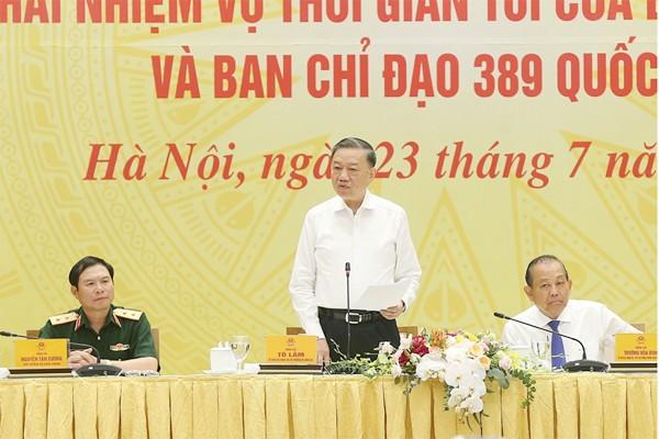 Đại tướng Tô Lâm, Ủy viên Bộ Chính trị, Bộ trưởng Bộ Công an thông tin về công tác đấu tranh phòng chống tội phạm