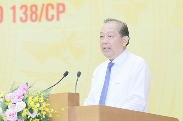 Phó Thủ tướng Thường trực Chính phủ Trương Hòa Bình phát biểu chỉ đạo tại hội nghị