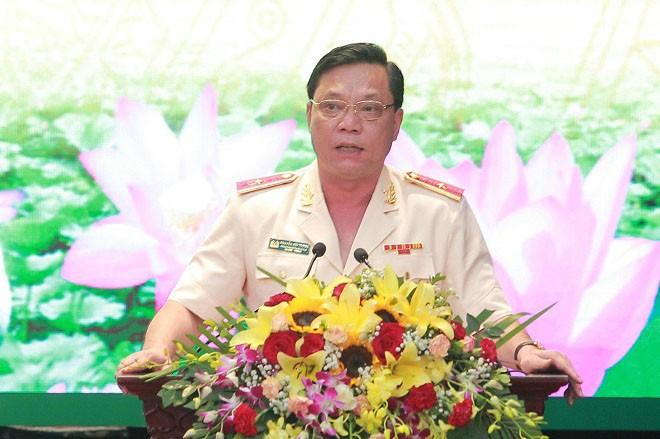 Thiếu tướng Nguyễn Hải Trung phát biểu nhận nhiệm vụ Giám đốc CATP Hà Nội